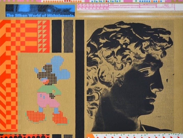 The Silken World of Michelangelo (detail; 1967), Eduardo Paolozzi. © Trustees of the Paolozzi Foundation