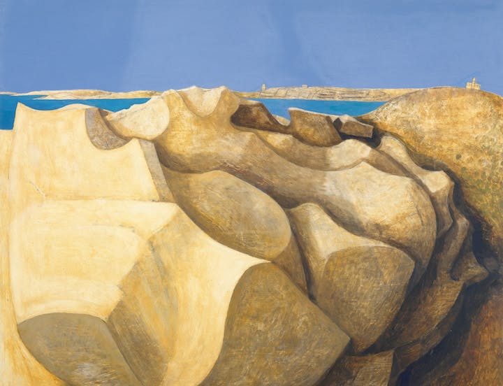 Rocks, St Mary's, Scilly Isles (detail; 1953), Wilhelmina Barns-Graham. © Wilhelmina Barns-Graham Trust