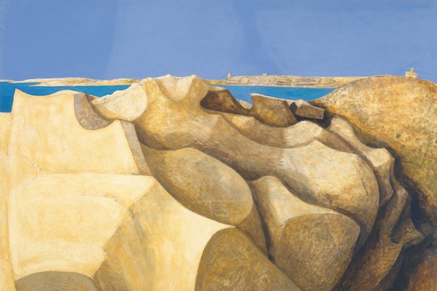Rocks, St Mary's, Scilly Isles (detail; 1953), Wilhelmina Barns-Graham. © Wilhelmina Barns-Graham Trust