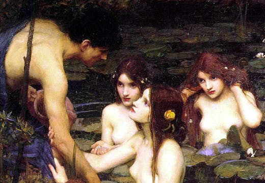 Hylas and the Nymphs (detail; 1896), J.W. Waterhouse. Manchester Art Gallery