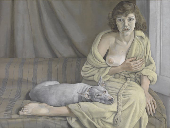 Girl with a White Dog (1950–51), Lucien Freud. © Tate