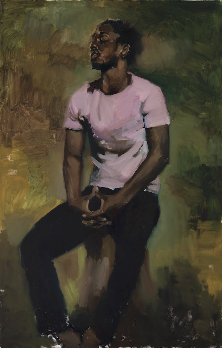 Coterie Of Questions (2015), Lynette Yiadom-Boayke. Courtesy Corvi-Mora, London and Jack Shainman Gallery, New York 