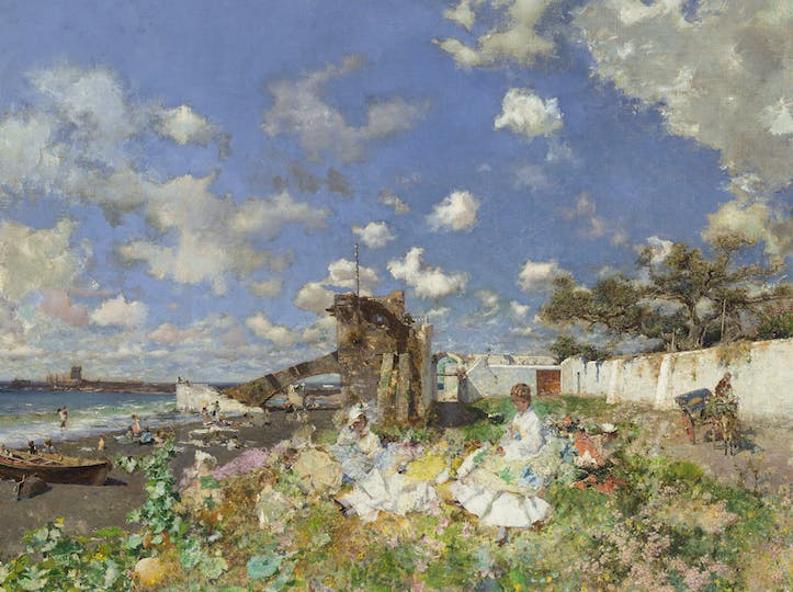 Beach at Portici (detail; 1874), Mariano Fortuny y Marsal. Meadows Museum, SMU, Dallas