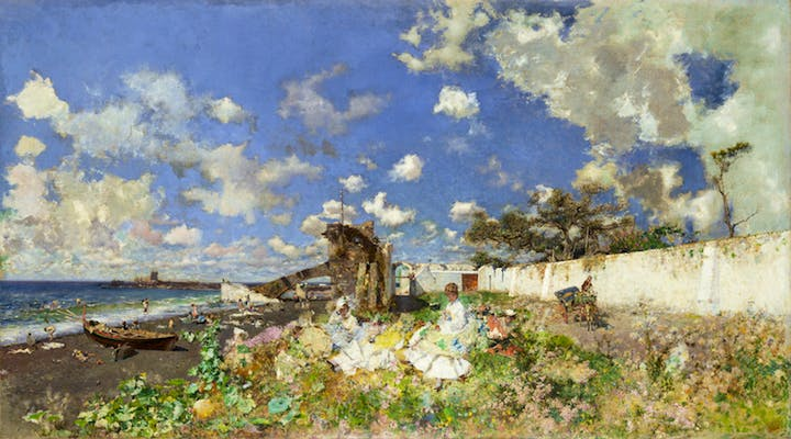 Beach at Portici (1874), Mariano Fortuny y Marsal. Meadows Museum, SMU, Dallas