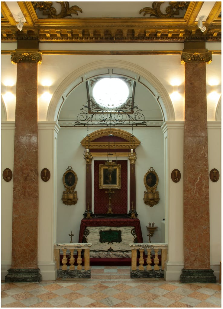 Interior of Our Lady of Sorrows, Eton College.