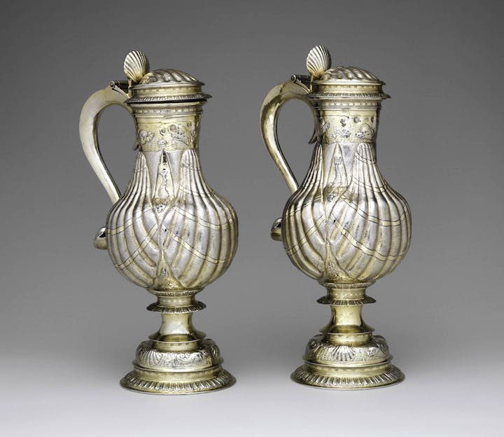 Pair of Flagons, 1598, silver gilt, artist unknown (English). Courtesy of the Metropolitan Museum of Art, New York