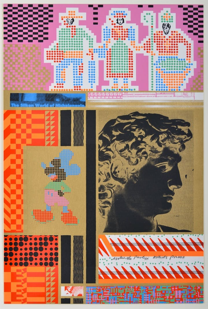The Silken World of Michelangelo (1967), Eduardo Paolozzi. © Trustees of the Paolozzi Foundation