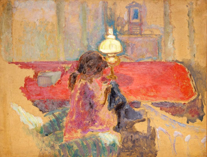 Woman with a Lamp (1909), Pierre Bonnard. Courtesy of the Dallas Museum of Art