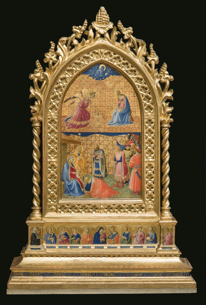 The Annunciation and Adoration of the Magi (1424-34), Fra Angelico. Museo di San Marco, Florence á Polo Museale della Toscana