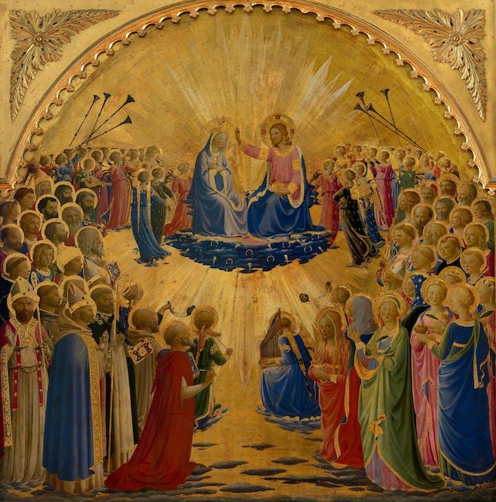 The Madonna della Stella (1424-34), Fra Angelico. Museo di San Marco, Florence á Polo Museale della Toscana