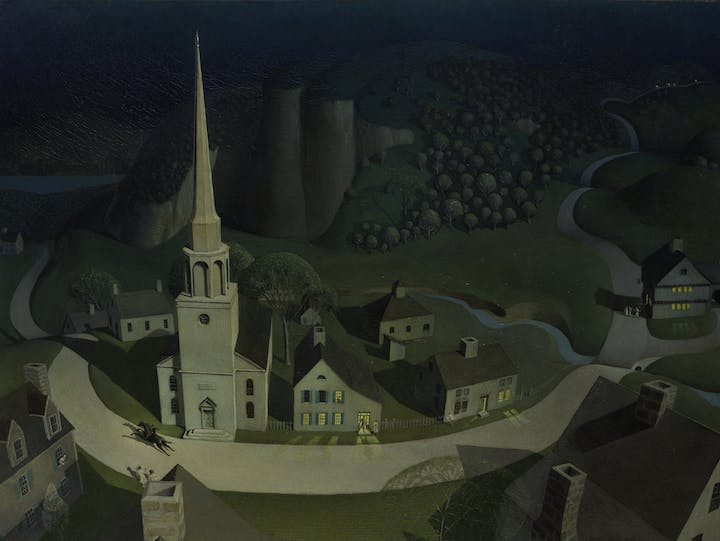 The Midnight Ride of Paul Revere (1931), Grant Wood. © Figge Art Museum, successors to the Estate of Nan Wood Graham/Licensed by VAGA, New York, NY. Image © The Metropolitan Museum of Art, New York; courtesy Art Resource, NY