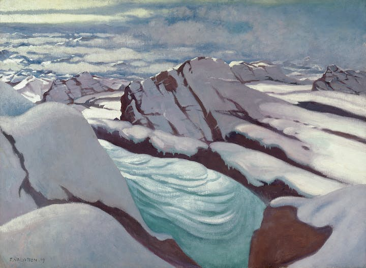 High Alps, Glaciers and Snowy Summits (1919), Félix Vallotton. Courtesy of Kunsthaus Zürich