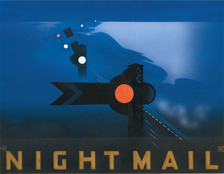 Poster for Night Mail (1936), designed by Pat Keely. Royal Mail Archive, Postal Museum, London