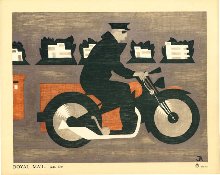 Royal Mail A.D. 1935 (1935), John Armstrong. Royal Mail Archive, Postal Museum