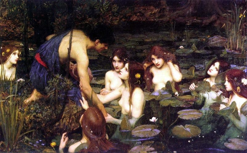 Hylas and the Nymphs, (1896), John William Waterhouse.