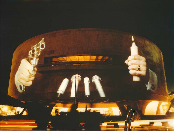 Hirshhorn Museum, Washington, DC (1988), Krzysztof Wodiczko. Courtesy the artist and Galerie Lelong, New York