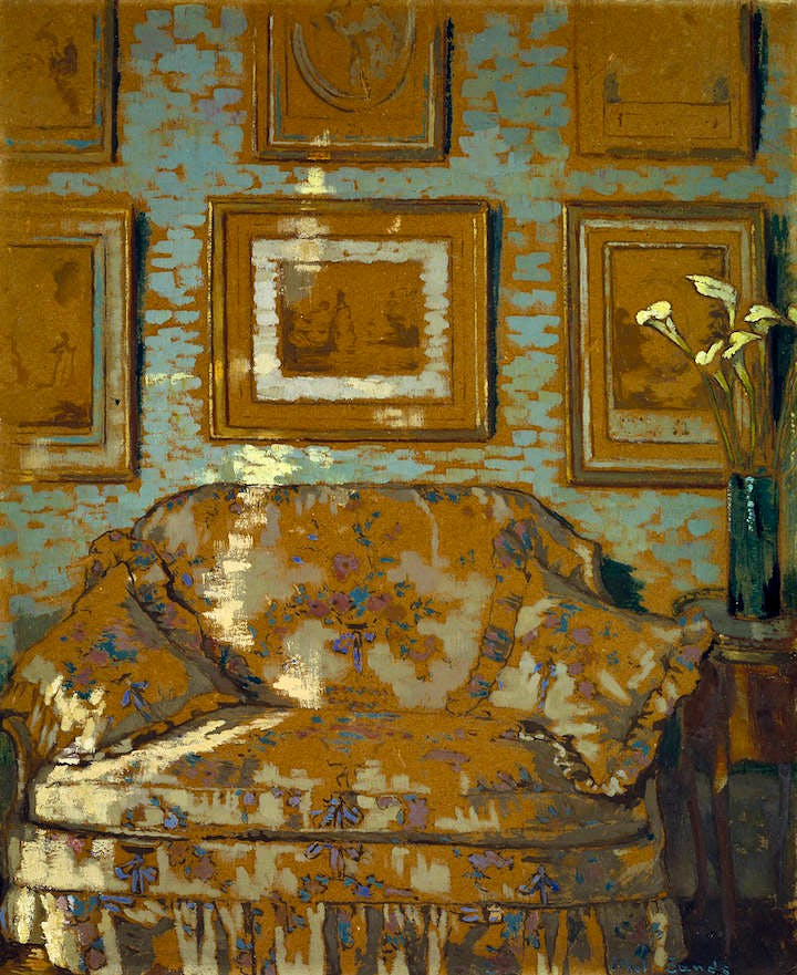 The Chintz Couch (c. 1910-11), Ethel Sands. © The estate of Ethel Sands