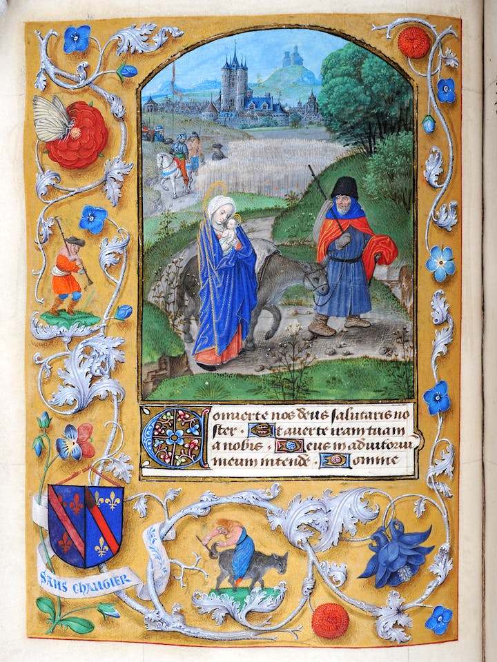 Illuminated illustration from the Book of Hours of Charlotte of Bourbon-Montpensier. Courtesy of Alnwick Castle