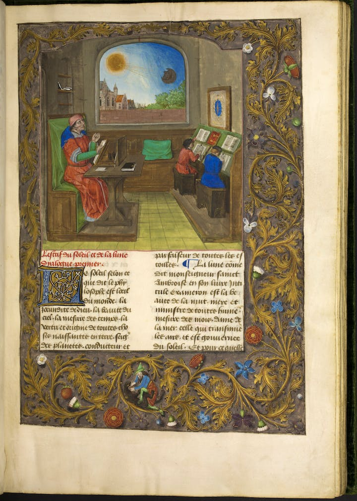 Maynus de Mayneriis's Dialogue des créatures, translated by Colard Mansion. Courtesy of Groeningemuseum, Bruges