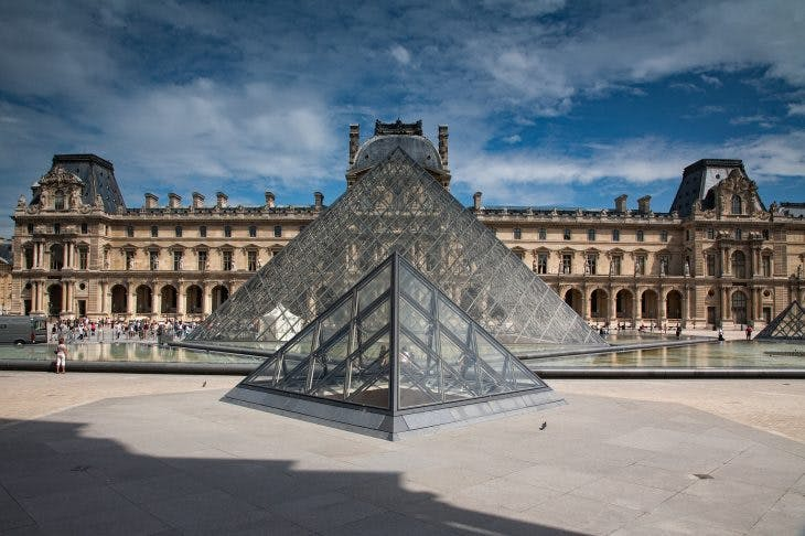 The Louvre in Paris.