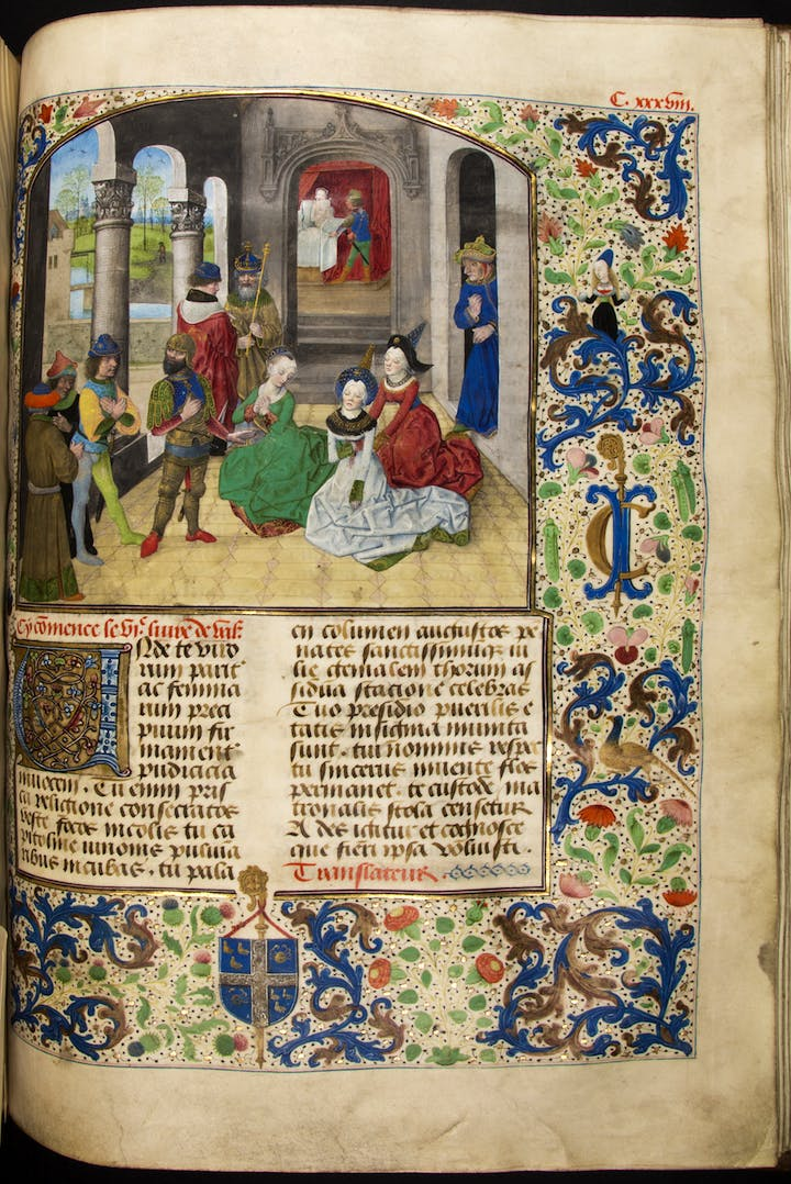 Valerius Maximus's, Faits et dits mémorables manuscript ordered by Abbot Jan Crabbe. © Lukas - Art in Flanders, Photo: Dominique Provost