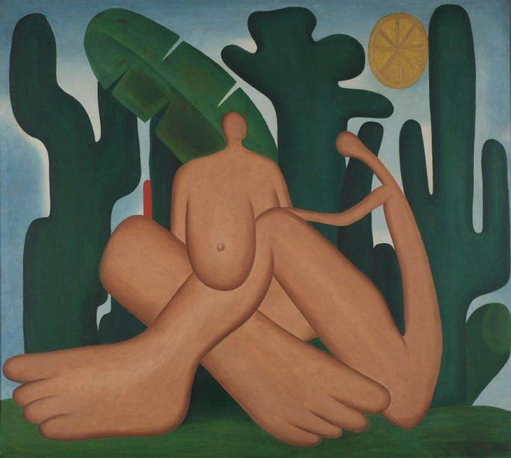 Anthropophagy (Antropofagia) (1929). Tarsila do Amaral. Coleção Gilberto Chateaubriand, Museu de Arte Moderna, Rio de Janeiro.