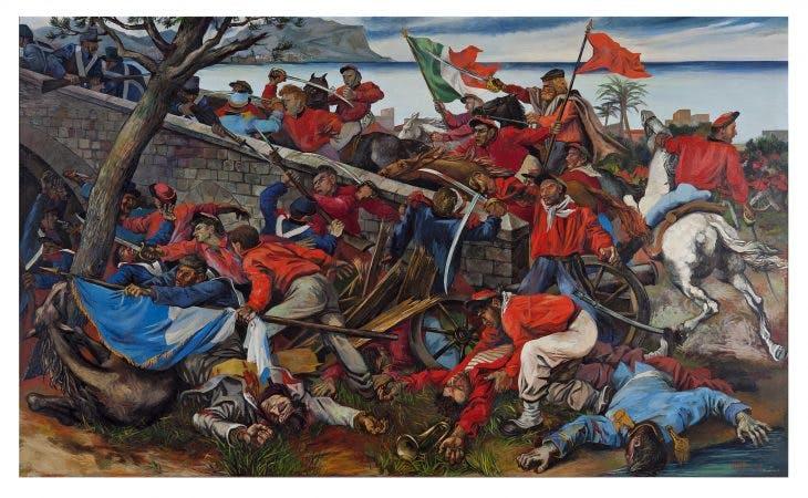 The Battle of Ponte dell'Ammiraglio, Renato Guttuso