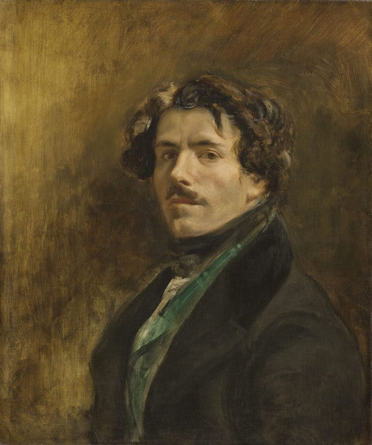 Self-Portrait with Green Vest, Eugène Delacroix