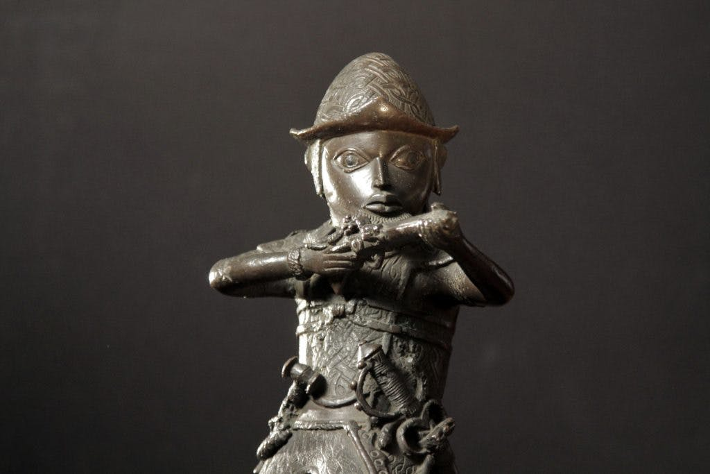 Benin Brass Figure of a Portuguese Soldier Holding a Musket (c. 1600), British Museum, London, photo: Nutopia