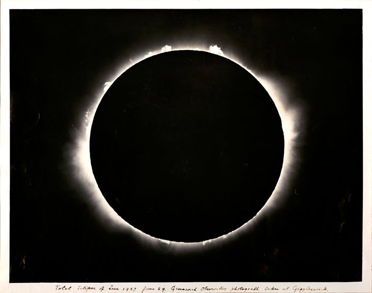 Solar eclipse, Astronomer Royal's expedition, Giggleswick, North Yorkshire (1927), unknown British photographer.