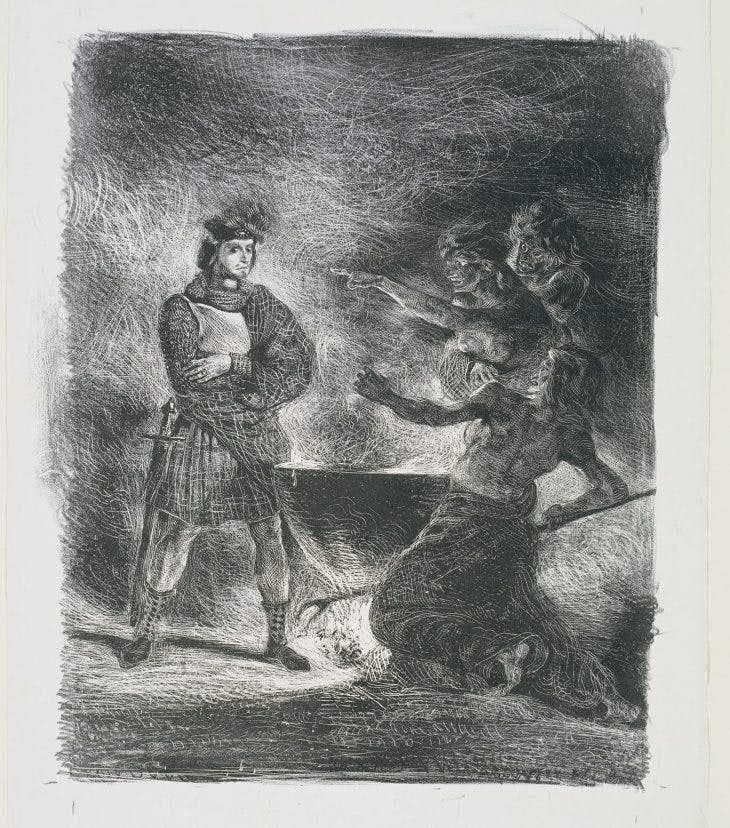 Macbeth and the Witches, Eugène Delacroix