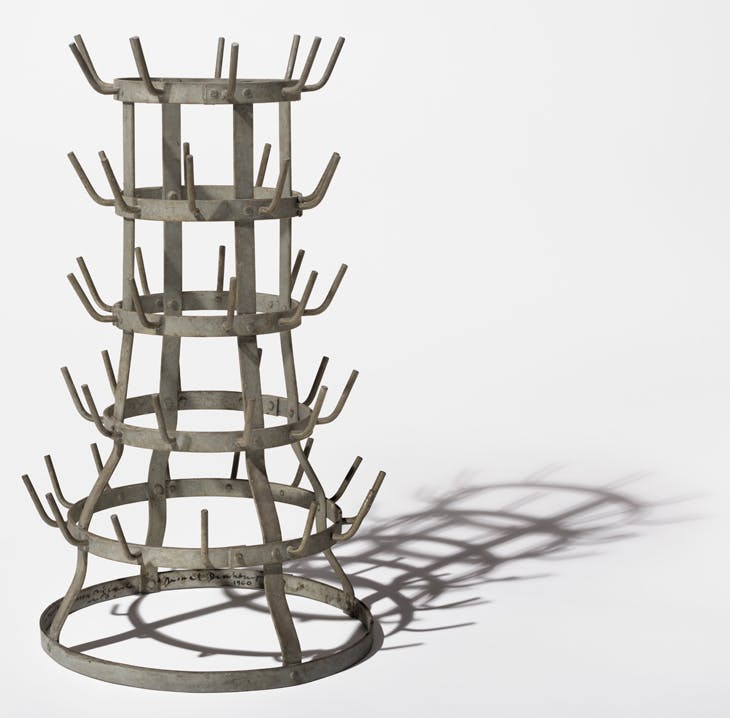 Bottle Rack (1914/1959; signed 1960), Marcel Duchamp. The Art Institute of Chicago