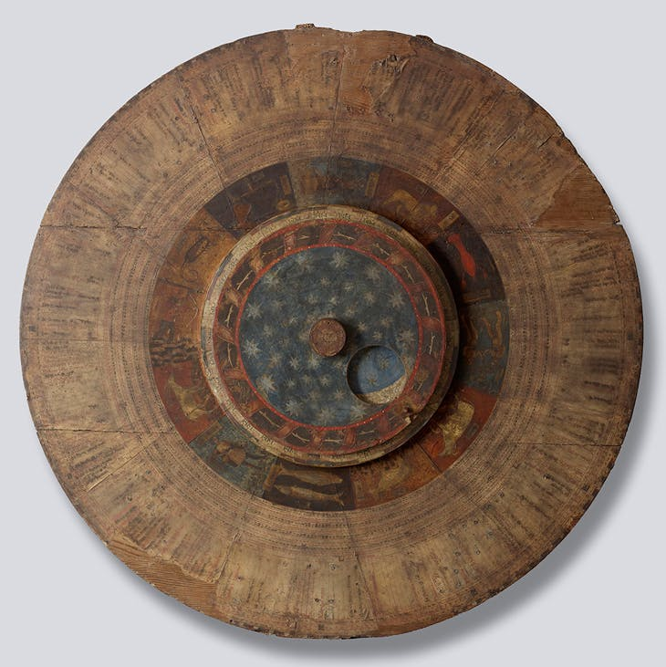Astrolabe San Zeno Astrolabe (c. 1455), illuminated for the Abbey of San Zeno by an anonymous Lombard artist. Collection of Michael Stone.