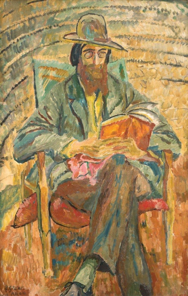 Lytton Strachey (1913), Duncan Grant.
