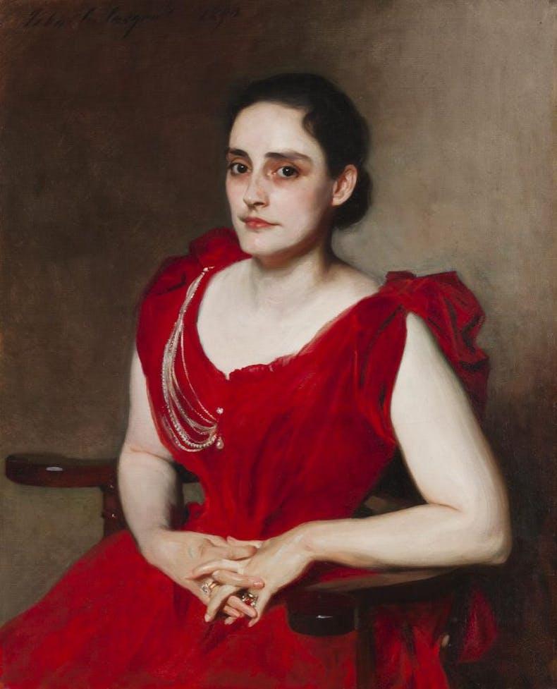 Lizzie B. Dewey (Mrs. Francis Henshaw Dewey II), 1890, John Singer Sargent, Worcester Art Museum, Massachusetts