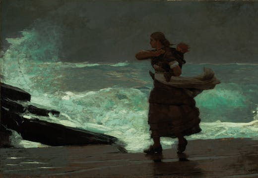 The Gale, Winslow Homer, Worcester Art Museum