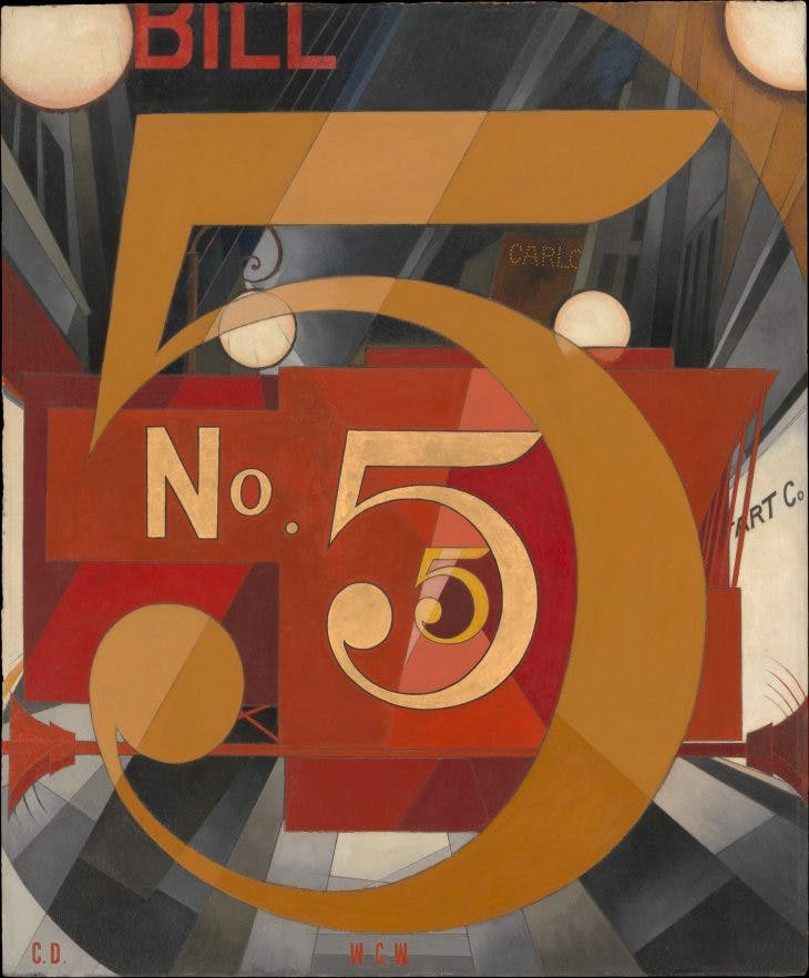I Saw the Figure 5 in Gold, Charles Demuth