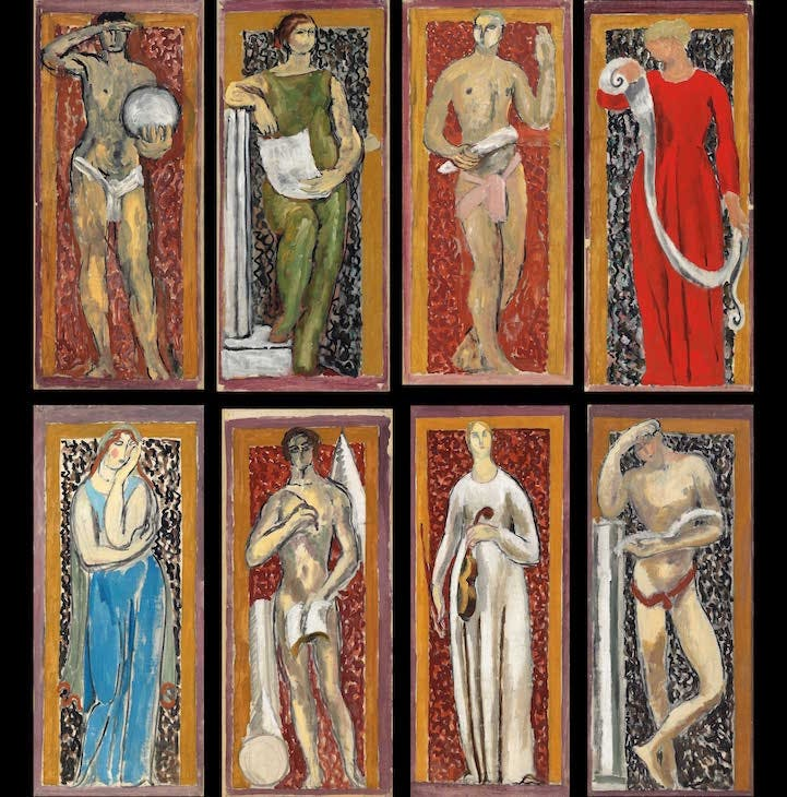 Studies for The Muses of Arts and Sciences (1920), Vanessa Bell and Duncan Grant