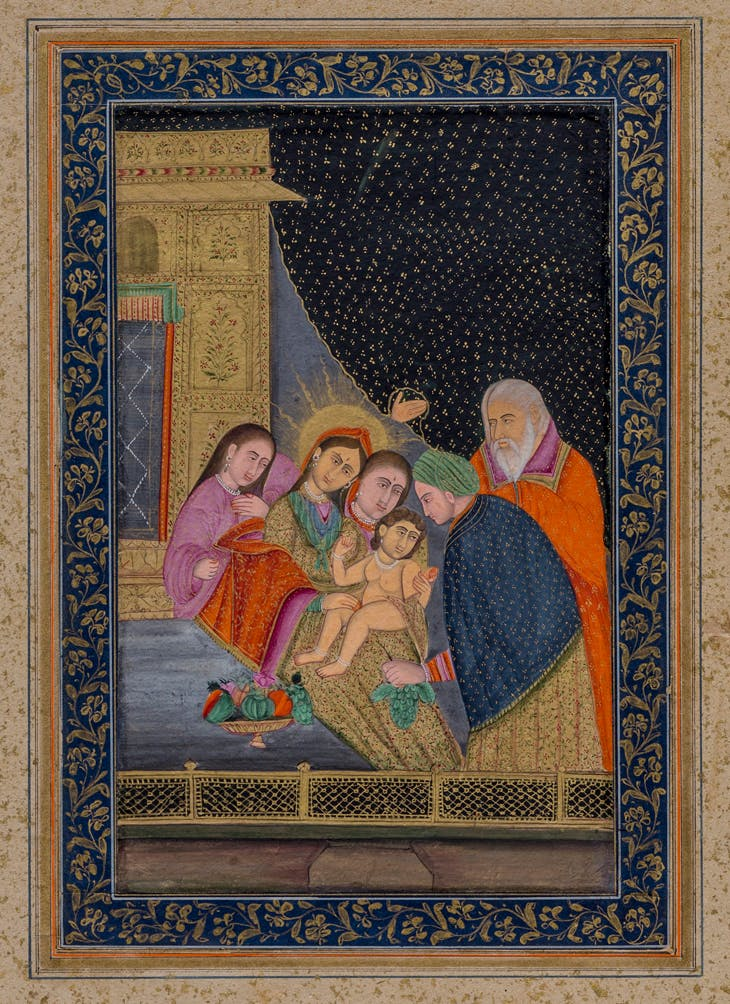 Virgin Mary and Child Christ (mid 18th century), India, probably Delhi.