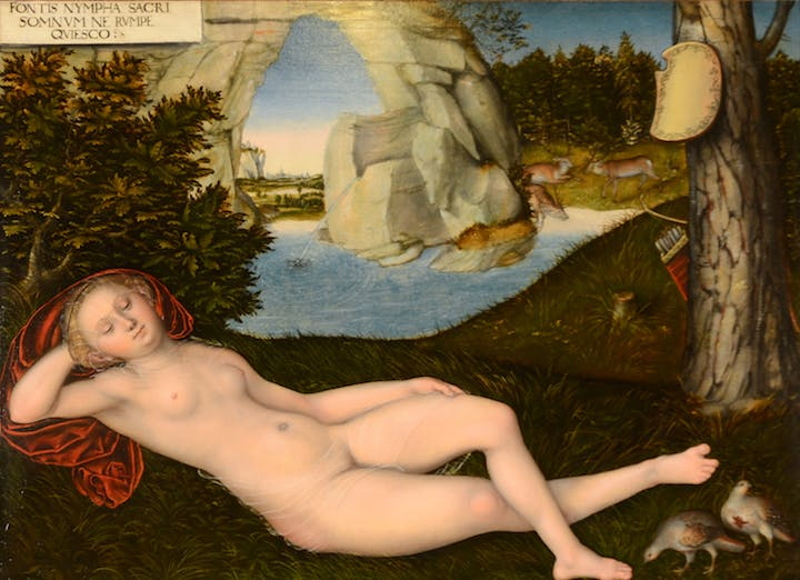 Nymph of the Spring (ca. 1540), Lucas Cranach the Younger. Courtesy of The San Diego Museum of Art