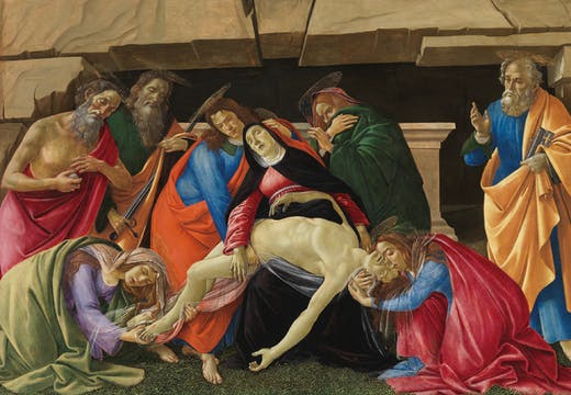 Lamentation over the Dead Christ (c. 1490/95), Sandro Botticelli.