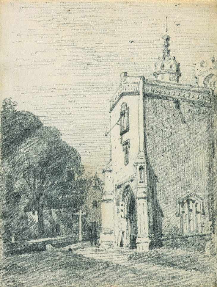 East Bergholt Church: The Porch, John Constable