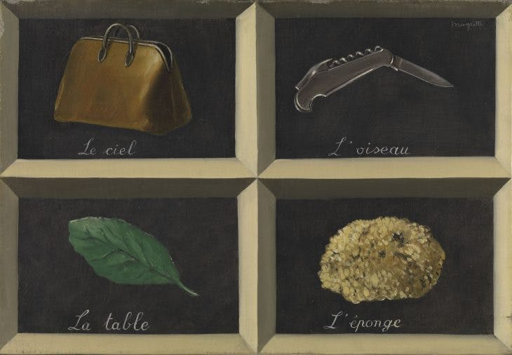 La clef des songes, (1927), René Magritte, Courtesy Bpk/Bayerische Staatsgemäldesammlungen; © ADAGP, Paris and DACS, London 2018