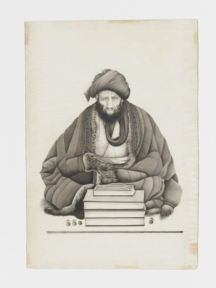 Portrait of a man of religion, Abu Turab Ghaffari