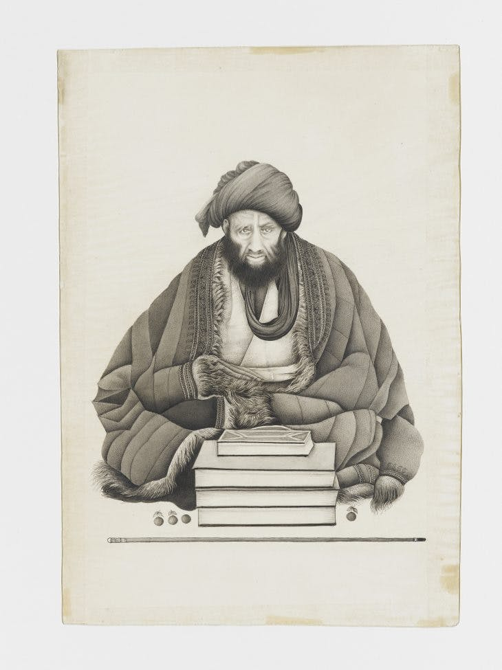 Portrait of a man of religion, Abu Turab Ghaffari