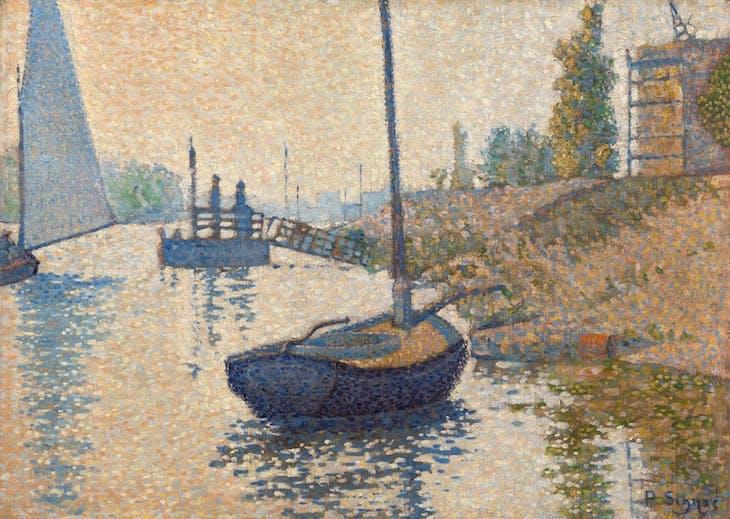 The Ponton de la Félicité at Asnières (1886), Paul Signac.
