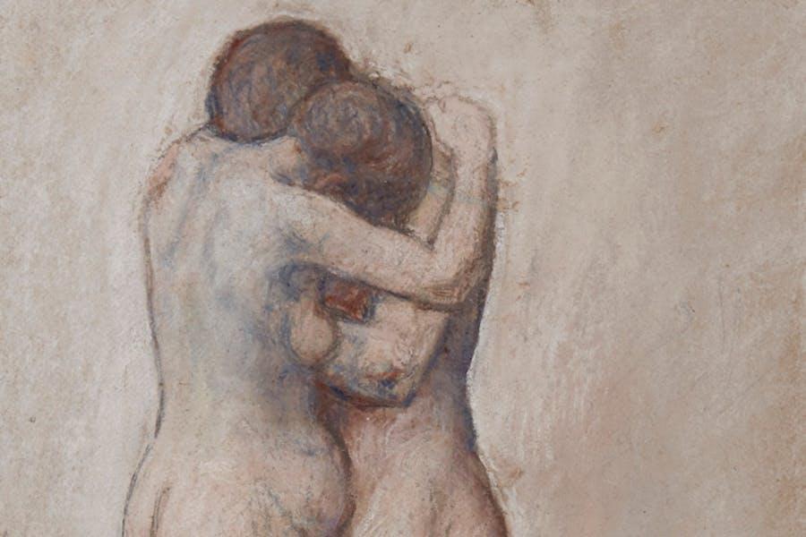 L'Étreinte (detail; 1903), Pablo Picasso.