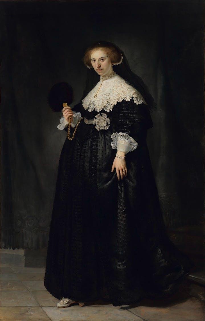 Portrait of Oopjen Coppit (1634), Rembrandt van Rijn. Musée du Louvre, Paris