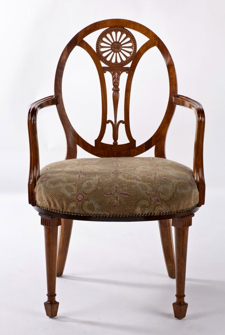 Satinwood armchair, Thomas Chippendale