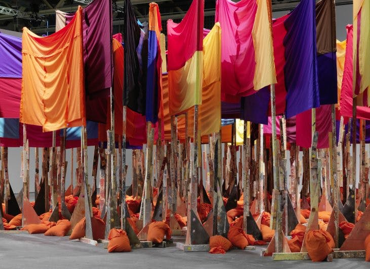 untitled: 100banners2015, Phyllida Barlow